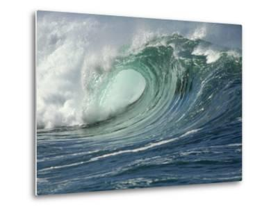 Shorebreak Waves in Waimea Bay-Rick Doyle-Metal Print