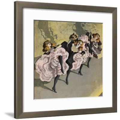 Four Girls Dancing Cancan-Bettmann-Framed Giclee Print