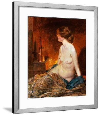 Nude Figure by Firelight-Guy Rose-Framed Giclee Print