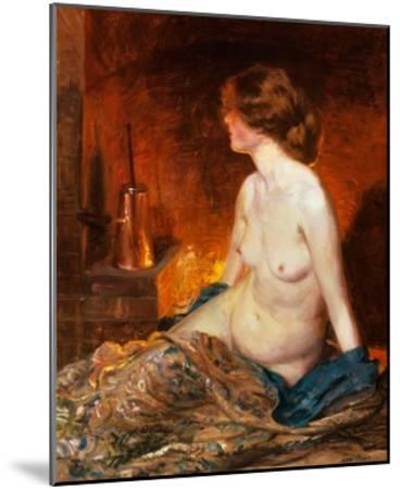 Nude Figure by Firelight-Guy Rose-Mounted Giclee Print