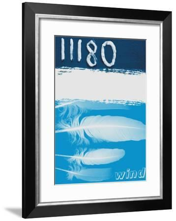 Graphic Representation of Wind--Framed Giclee Print