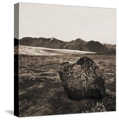 Boulder in Glacial Till--Stretched Canvas Print