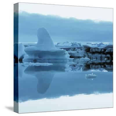 Iceberg Shaped Like a Whale Fin--Stretched Canvas Print