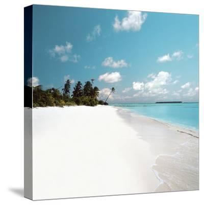 Tropical Beach--Stretched Canvas Print