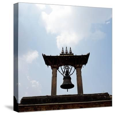 A Bell Tower and Bell--Stretched Canvas Print