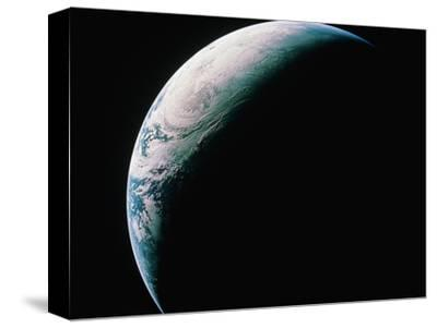 Crescent Earth from Space--Stretched Canvas Print