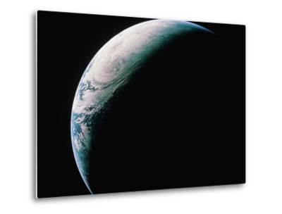 Crescent Earth from Space--Metal Print