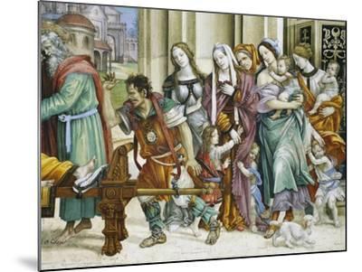 Detail of Saint John the Evangelist Reuscitating Druisana-Filippino Lippi-Mounted Giclee Print
