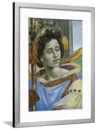 Detail of Saint John the Evangelist Reuscitating Druisana-Filippino Lippi-Framed Giclee Print