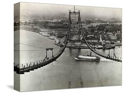 Building of the Triborough Bridge--Stretched Canvas Print