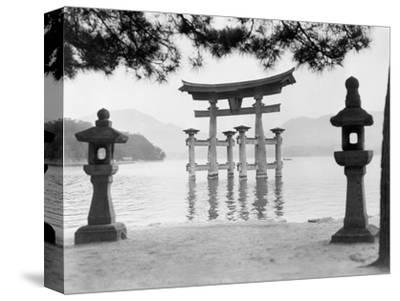 Torii Gate in Water--Stretched Canvas Print