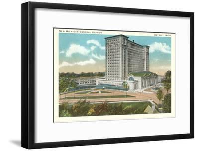 Central Station, Detroit, Michigan--Framed Art Print