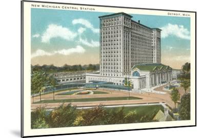 Central Station, Detroit, Michigan--Mounted Art Print