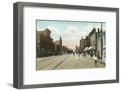 Eighth Street, Holland, Michigan--Framed Art Print