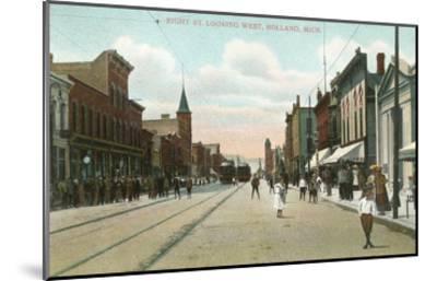 Eighth Street, Holland, Michigan--Mounted Art Print