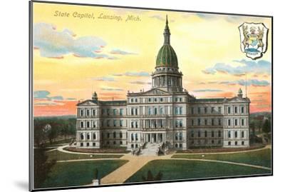 State Capitol, Lansing, Michigan--Mounted Art Print