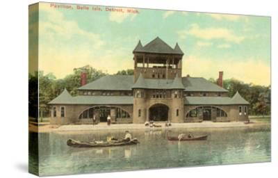 Pavilion, Belle Island, Detroit, Michigan--Stretched Canvas Print
