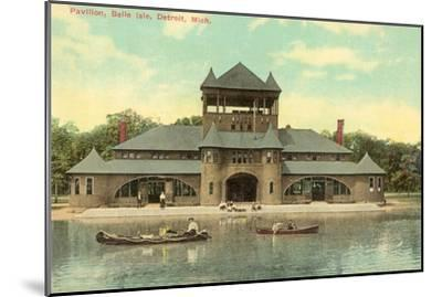 Pavilion, Belle Island, Detroit, Michigan--Mounted Art Print