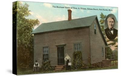 Boyhood Home of Edison, Port Huron, Michigan--Stretched Canvas Print