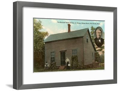 Boyhood Home of Edison, Port Huron, Michigan--Framed Art Print