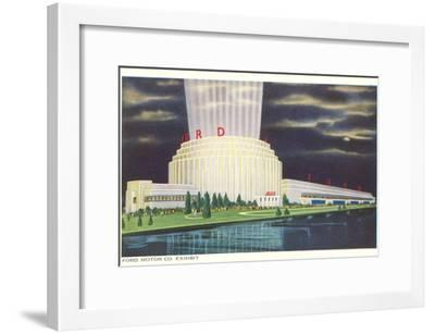 Night, Ford Rotunda, Dearborn, Michigan--Framed Art Print