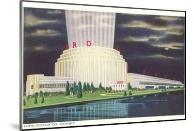 Night, Ford Rotunda, Dearborn, Michigan--Mounted Art Print