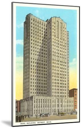 Buhl Building, Detroit, Michigan--Mounted Art Print