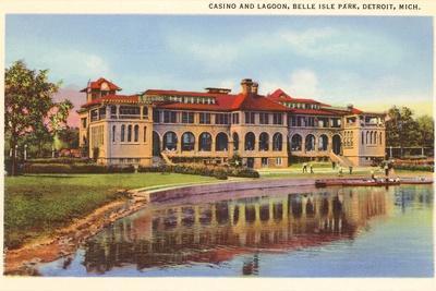 Casino, Belle Isle, Detroit, Michigan--Stretched Canvas Print
