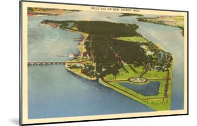Aerial View, Belle Isle, Detroit, Michigan--Mounted Art Print