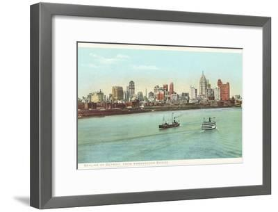 Skyline, Detroit, Michigan--Framed Art Print