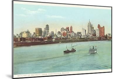 Skyline, Detroit, Michigan--Mounted Art Print
