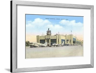 Municipal Airport, Detroit, Michigan--Framed Art Print