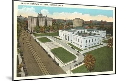 Institute of Arts, Detroit, Michigan--Mounted Art Print