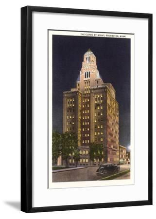 Night, Mayo Clinic, Rochester, Minnesota--Framed Art Print