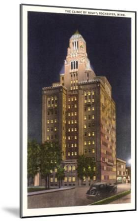 Night, Mayo Clinic, Rochester, Minnesota--Mounted Art Print