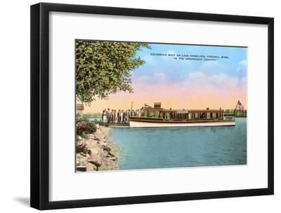 Excursion Boat, Lake Vermilion, Virginia, Minnesota Art Print by | Art com