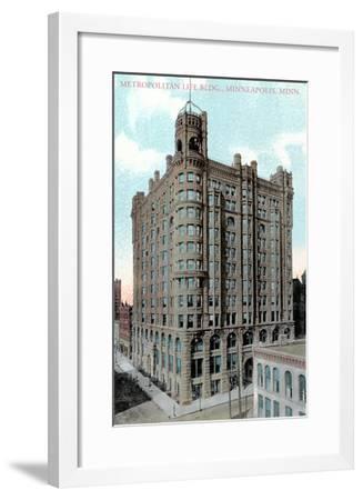 Metropolitan Life Building, Minneapolis, Minnesota--Framed Art Print