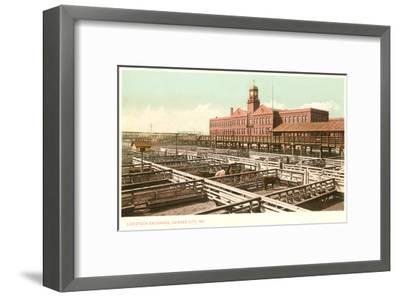 Livestock Exchange, Kansas City, Missouri--Framed Art Print
