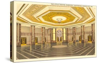 Interior, Municipal Auditorium, Kansas City, Missouri--Stretched Canvas Print