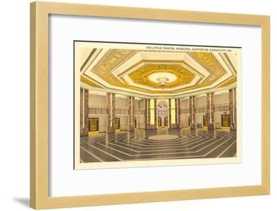 Interior, Municipal Auditorium, Kansas City, Missouri--Framed Art Print