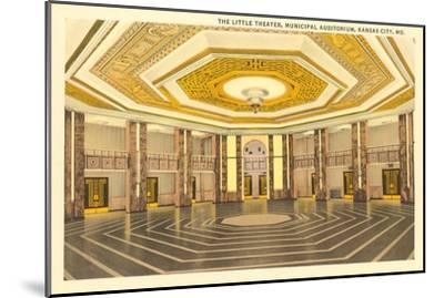 Interior, Municipal Auditorium, Kansas City, Missouri--Mounted Art Print