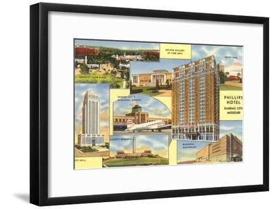 Views of Kansas City, Missouri, Phillips Hotel--Framed Art Print