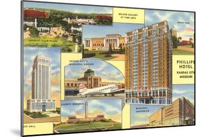 Views of Kansas City, Missouri, Phillips Hotel--Mounted Art Print