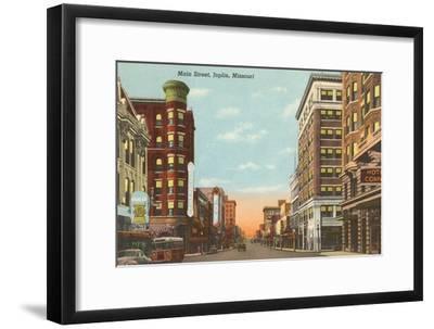 Main Street, Joplin, Missouri--Framed Art Print