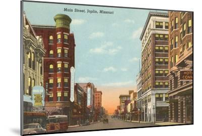 Main Street, Joplin, Missouri--Mounted Art Print