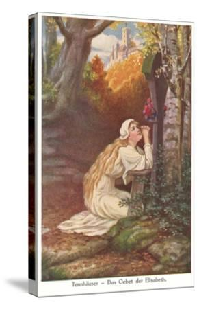 Scene from Tannhauser, Elizabeth's Prayer--Stretched Canvas Print