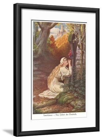 Scene from Tannhauser, Elizabeth's Prayer--Framed Art Print