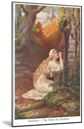 Scene from Tannhauser, Elizabeth's Prayer--Mounted Art Print