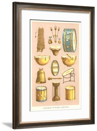 Variety of Percussion Instruments--Framed Art Print