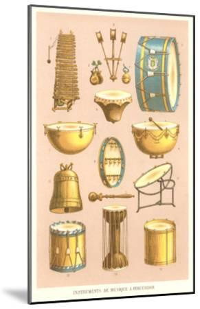 Variety of Percussion Instruments--Mounted Art Print